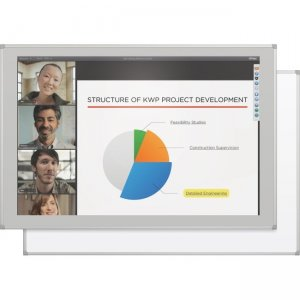 MooreCo Interactive Projector Board with Brio Trim 2G5KG-25