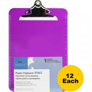 Sparco Plastic Clipboard 01862BX SPR01862BX