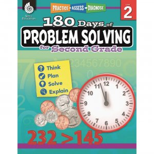 Shell 180 Days of Problem Solving for Second Grade 51614 SHL51614