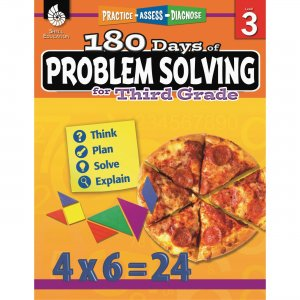 Shell 180 Days of Problem Solving for Third Grade 51615 SHL51615