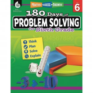 Shell 180 Days of Problem Solving for Sixth Grade 51618 SHL51618