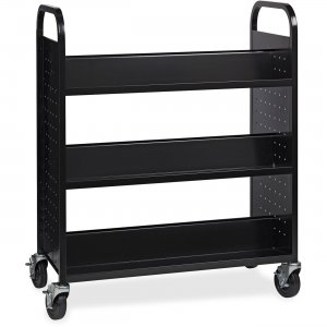 Lorell Double-sided Book Cart 99931 LLR99931