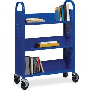 Lorell Single-sided Steel Book Cart 99934 LLR99934