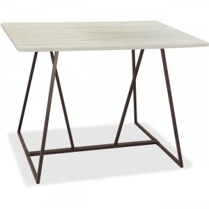 Safco Oasis Standing-Height Teaming Table 3020WW SAF3020WW