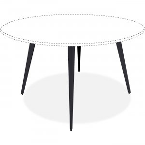 Lorell Round Conference Table Steel Base 59643 LLR59643