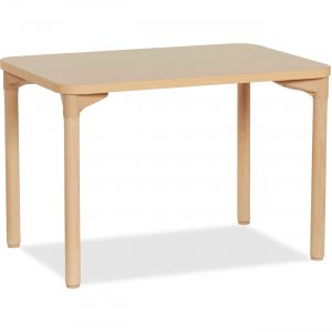 "Early Childhood Resources 26"" Leg Play/Work Wood Table 14506WG26 ECR14506WG26"