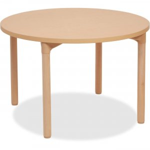 "Early Childhood Resources 26"" Leg Round Wood Table 14514WG26 ECR14514WG26"