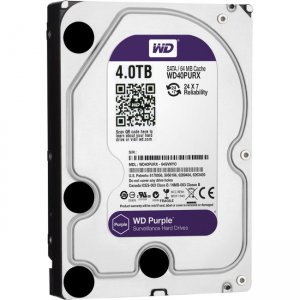 Western Digital - IMSourcing Certified Pre-Owned Purple 4TB SATA 6 Gb/s, 3.5-inch Surveillance Hard Drive - Refurbished WD40PURX