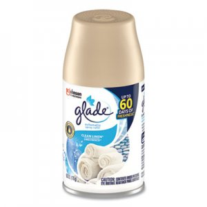 Glade Automatic Air Freshener, Clean Linen, 6.2 oz, 6/Carton SJN616415 616415