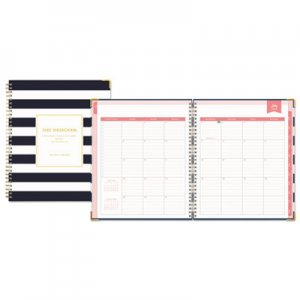 Blue Sky Day Designer Academic Year Weekly/Monthly Hardcover Planner, 8 x 10, Navy/White BLS107932 107932