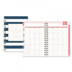 Blue Sky Day Designer Academic Year Daily/Monthly Frosted Planner, 5 x 8, Navy/White BLS107930 107930