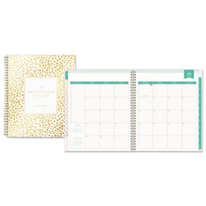 Blue Sky Day Designer Academic Year Daily/Monthly Frosted Planner, 8 x 10, Gold/White BLS107928 107928