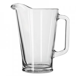 Libbey Glass Beer Pitcher, 37 oz/1 Liter, Clear, 6/Carton LIB1792421 10078917924211