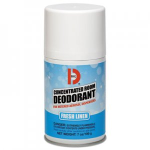 Big D Metered Concentrated Room Deodorant, Fresh Linen Scent, 7 oz Aerosol, 12/Box BGD472 BGD 472