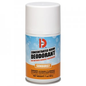 Big D Metered Concentrated Room Deodorant, Sunburst Scent, 7 oz Aerosol, 12/Carton BGD464 464