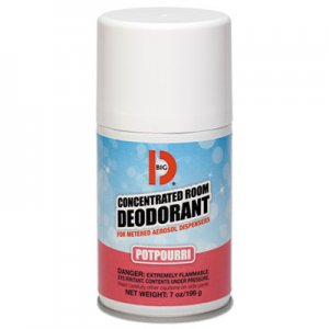 Big D Metered Concentrated Room Deodorant, Potpourri Scent, 7 oz Aerosol, 12/Carton BGD462 BGD 462