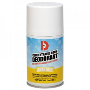 Big D Metered Concentrated Room Deodorant, Lemon Scent, 7 oz Aerosol, 12/Carton BGD451 BGD 451