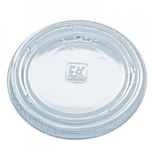 Fabri-Kal Portion Cup Lids, Fits Portion Cups and Containers, Clear, 125/PK, 16 PK/CT FABGXL345PC 9509322