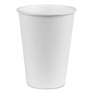 Dixie PerfecTouch Hot/Cold Cups, 12 oz., White, 50/Bag, 20 Bags/Carton DXE5342W 5342W
