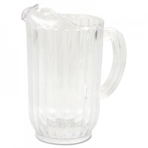 Rubbermaid Commercial Bouncer Plastic Pitcher, 72 oz, Clear RCP3339CLE FG333900CLR