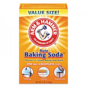 Arm & Hammer Baking Soda, 64 oz Box, 6/Carton CDC3320001170 33200-01170
