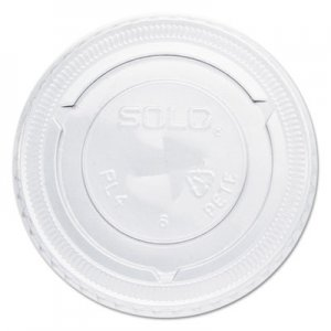 Dart Straw-Slot Cold Cup Lids, For 7oz Plastic Cups, Clear, Plastic, 125/Bag, 20/CT SCCPL4TSN SCC PL4TSN