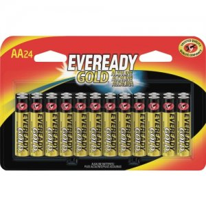 Eveready Gold Alkaline AA Batteries A91BP24 EVEA91BP24