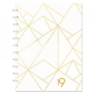 Blueline Gold Collection Monthly Planner, 11 x 9 3/5, White and Gold, 2019 REDCF3300301 CF33003.01