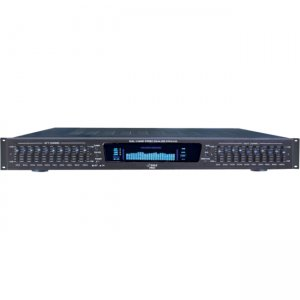 PylePro 19'' Rack Mount Dual 10 Band 4 Source Input Stereo Spectrum Graphic Equalizer PPEQ100
