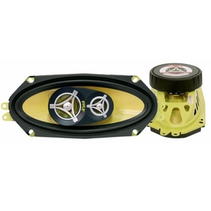 Pyle 4'' x 10'' 300 Watt Three-Way Speakers (Pair) PLG41.3