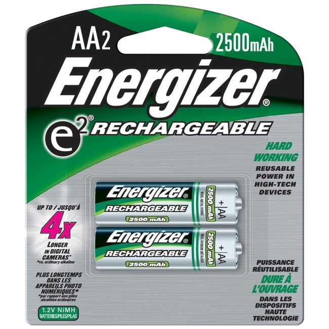 Energizer AA Nickel-metal Hydride Rechargeable Battery NH15BP-2