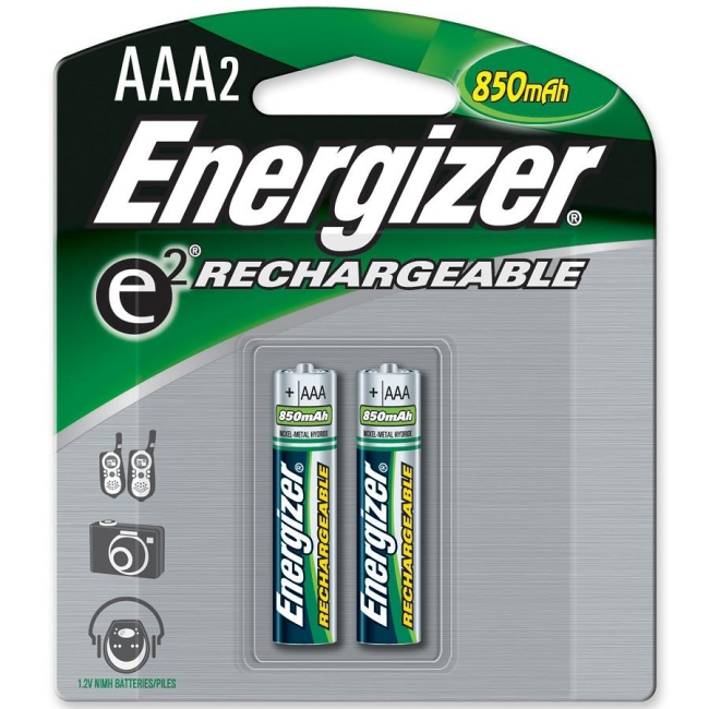 Energizer AAA Rechargeable Nickel Metal Hydride Battery NH12BP-2