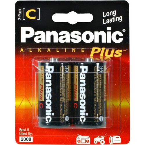 Panasonic C-Size Alkaline Plus Battery Pack AM-2PA/2B