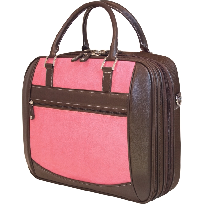 Mobile Edge ScanFast Element Checkpoint Friendly Briefcase - Pink Suede MESFEBX