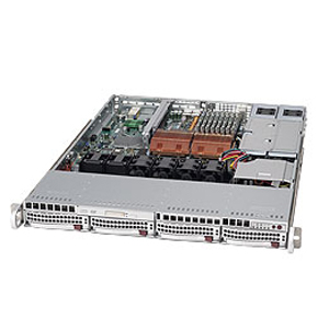 Beige Supermicro CSE-512F-260 Chassis