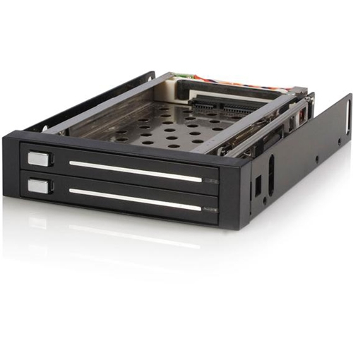 StarTech.com 2 Drive 2.5in Trayless SATA Mobile Rack HSB220SAT25B