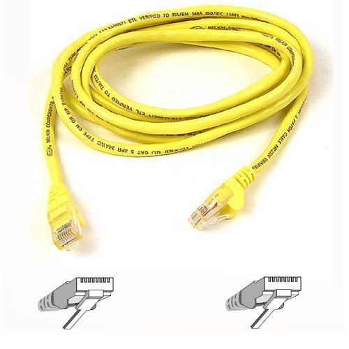 Belkin Cat5e Crossover Cable A3X126-50-YLW-M
