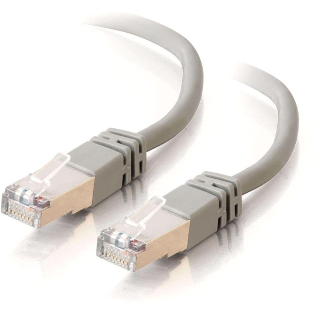 C2G 7 ft Cat5e Molded Shielded Network Patch Cable - Gray 27250