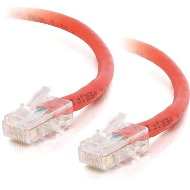 C2G 14 ft Cat5e Non Booted Crossover UTP Unshielded Network Patch Cable - Red 26706