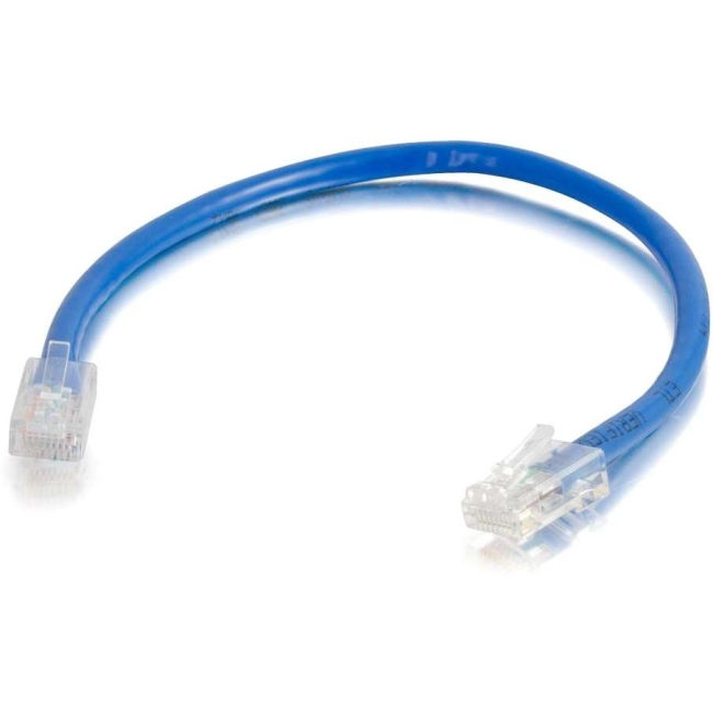 C2G 25 ft Cat5e Non Booted UTP Unshielded Network Patch Cable (100 pk) - Blue 24390