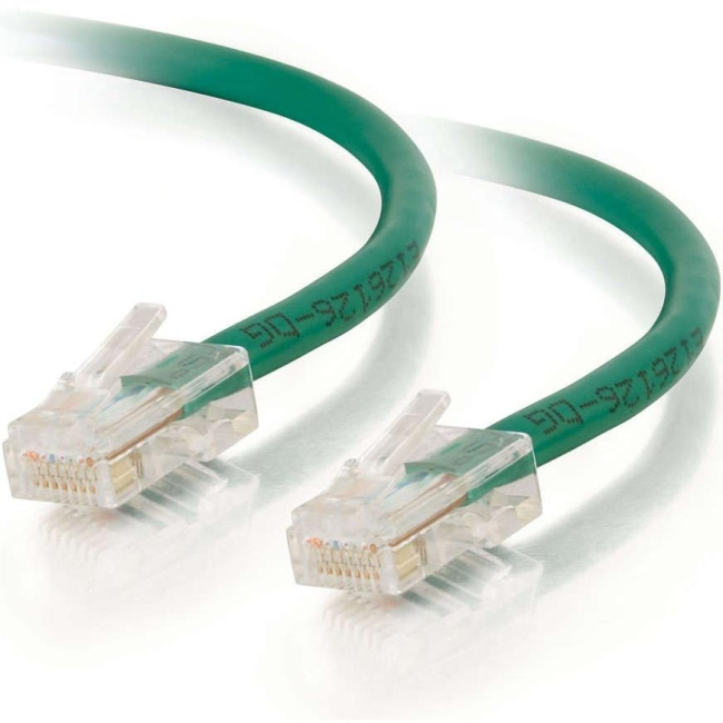 C2G 50 ft Cat5e Non Booted UTP Unshielded Network Patch Cable - Green 24394