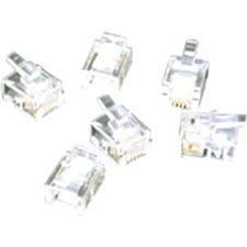C2G RJ11 6x4 Modular Plug for Flat Stranded Cable 27558