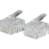 C2G RJ11 Modular Plug for Round Solid Cable 27562