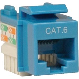 Tripp Lite Cat. 6/Cat. 5e 110 Punch Down Keystone Jack N238-001-BL