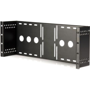 StarTech.com Universal VESA LCD Monitor Mounting Bracket for 19in Rack or Cabinet RKLCDBK