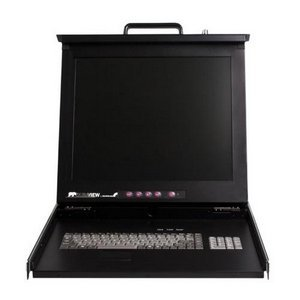 "StarTech.com 1U 17"" Rack Mount LCD Console w/16 Port KVM Switch RACKCONS1716"