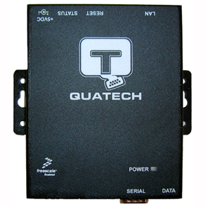 QUATECH 1 Port RS-232/422/485 Serial Device Server (DB9 Male) with Surge Suppression SSE-400D-SS