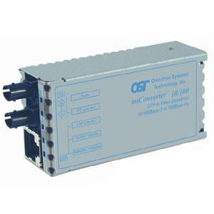 Omnitron miConverter 10/100 ST Single-Mode 60km US AC Powered 1101-2-1 1101-2-x