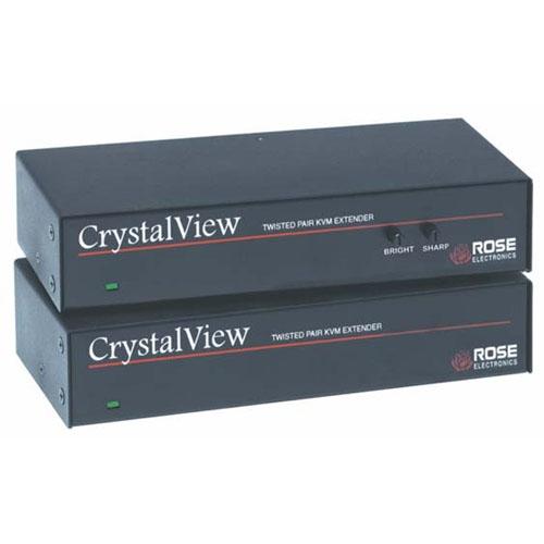 Rose Electronics CrystalView Dual Access CAT5 USB KVM Extender with Audio CRK-2USB/AUD