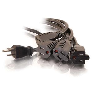 C2G 1-TO-4 Power Cord Splitter 29803